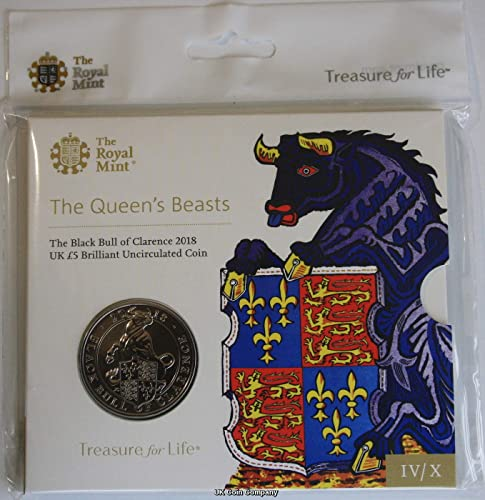 2018 Queens Beasts noir Bull Of Clarence BU Royal Mint Coin Pac