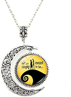 Jack Skellington Necklace Pendant Gift, Jack and Sally Nightmare Before Christmas