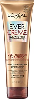 L'Oreal Paris EverCreme Sulfate Free Deep Nourish Shampoo, 8.5 Fl; Oz (Pack of 1) (Packaging May Vary)