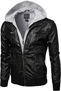 Youstar Men's Moto Racer Faux Leather Jackets