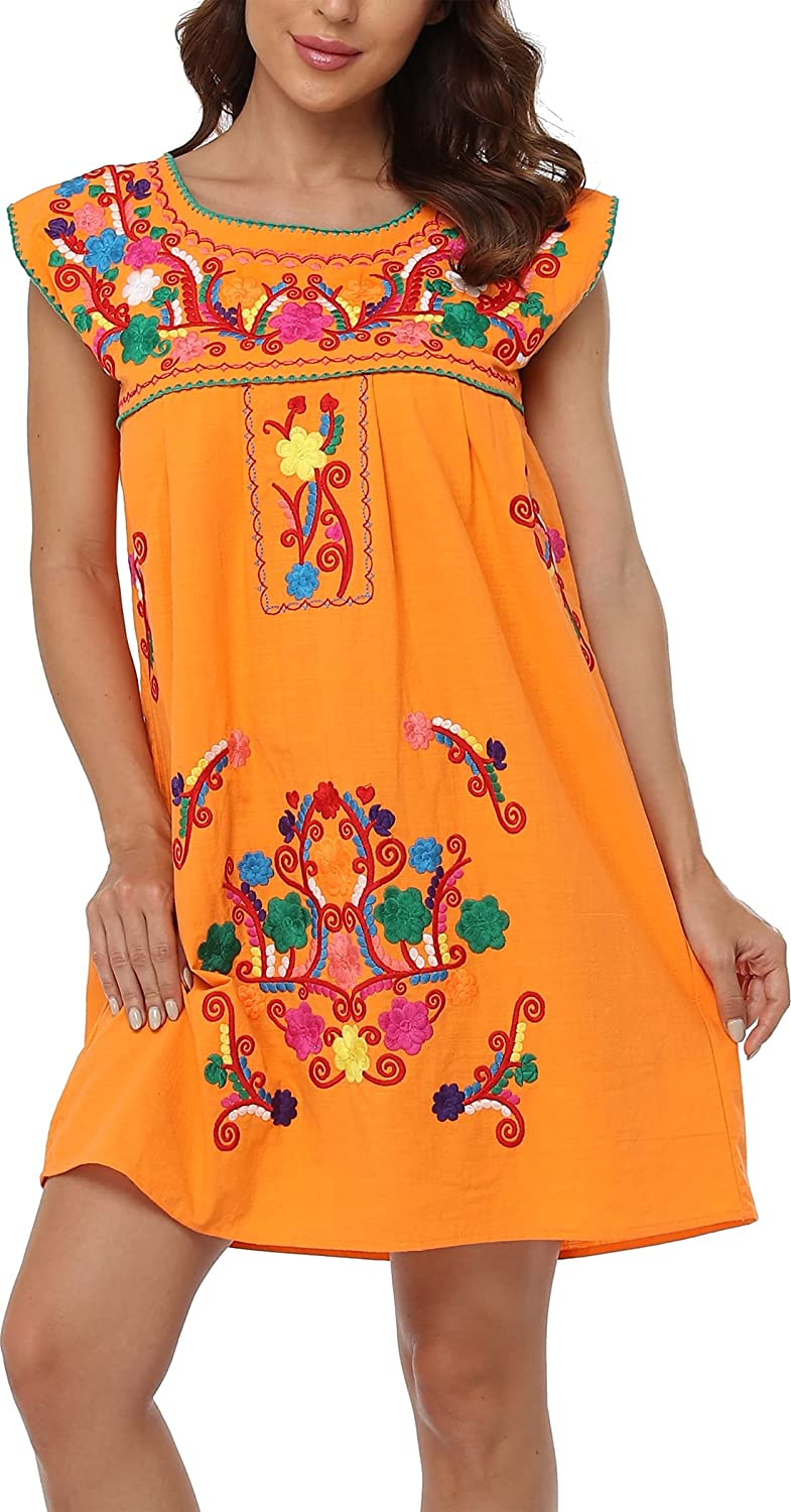 YZXDORWJ Women's Casual Boxy Fit Louisville-Jefferson County Mall Omaha Mall Peas Skirts Mexican Embroidered
