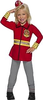 Rubie's Costume 641208-M Co Barbie Career Children's Costume, Firefighter, Medium