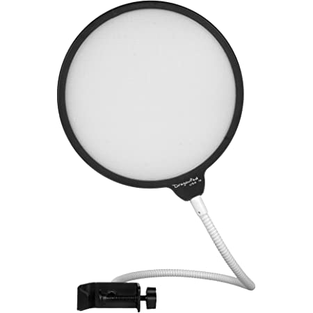 "Enabled, 6"" Microphone Studio Black/White Pop Filter (DPD BKWT)"