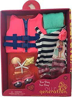 Our Generation Fun Day Sun Day Swimsuit Goggle Set for 18-Inch Dolls