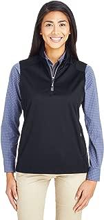 Core 365 Womens Techno Lite Three-Layer Knit Tech-Shell Quarter-Zip Vest (CE709W)