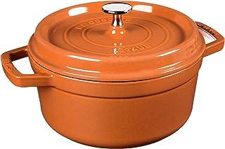 STAUB Cast Iron Round Cocotte, 2.75-quart, Burnt Orange