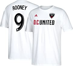 adidas Wayne Rooney D.C. United Men's White Name and Number T-Shirt