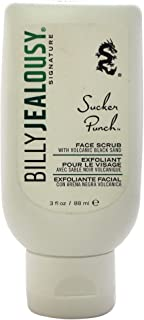 Billy Jealousy Sucker Punch Mens Cleansing Face Scrub with Volcanic Black Sand, 3 Oz.