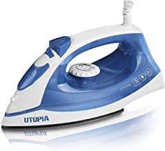 Steam Iron with Nonstick Soleplate - Small Size Lightweight - Best For Travel - Powerful Steam Output - Dry Iron Function 1200 Watt (Blue)