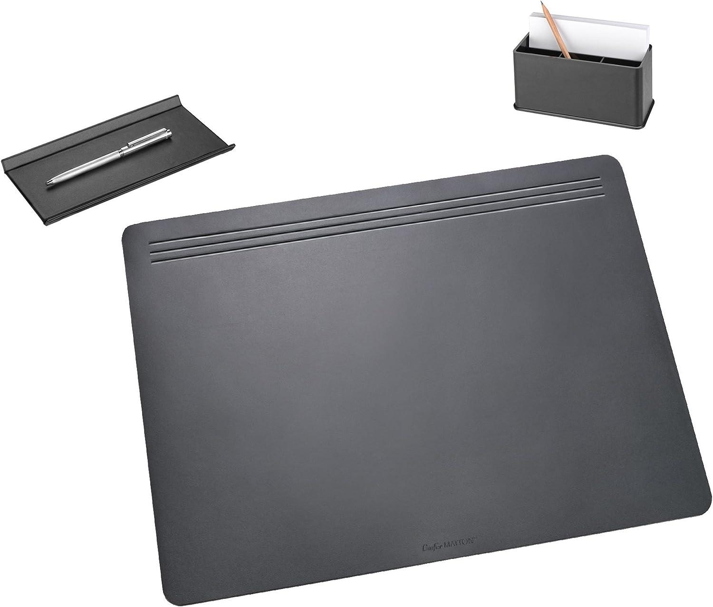 Läufer 36017 - Ambiente MATTON Ganitur 3-teilig - 1x Schreibunterlage 50 x 70 cm, 1x Federschale, 1x Combi-Box - schwarz B002K92D2W   | Elegant und feierlich