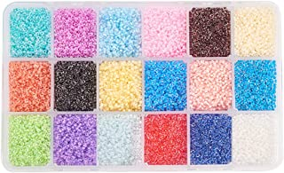 PH PandaHall Elite About 37800 Pcs 13 0 Multicolor Beading Glass Seed Beads 18 Colors Transparent Round Pony Bead Mini Spa...