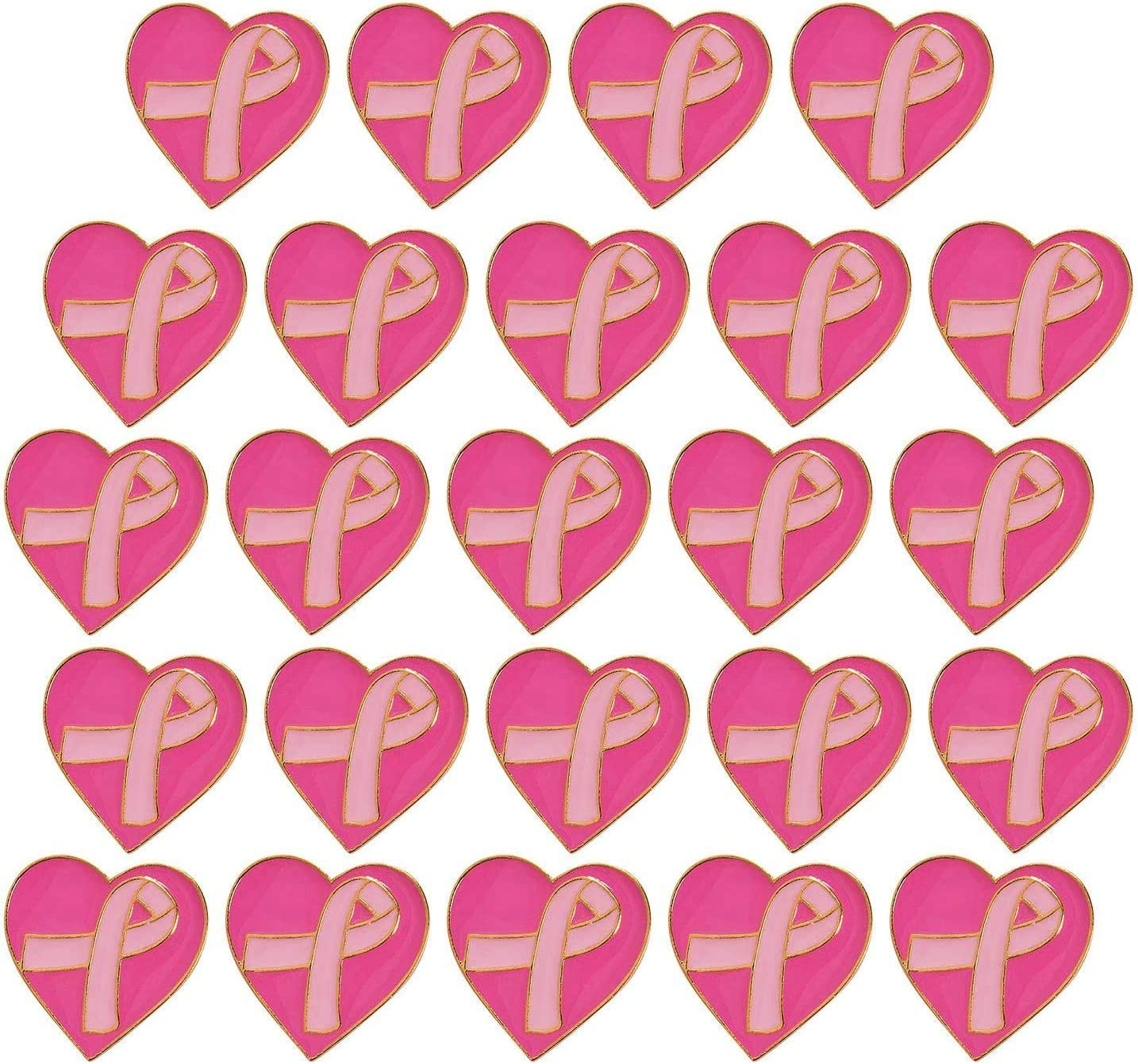 24 Breast Max 65% OFF Cancer Pin - sold out Small Aw 1 inch Pink Ribbon