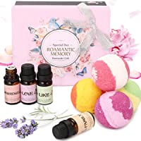 Janolia 4 Piece Scented Oil with 4 Pcs Bath Bomb with Love Theme Gift Box