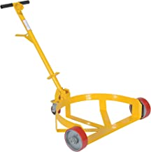 Vestil LO-DC-PU Lo-Profile Drum Caddie with Bung Wrench Handle and Poly-on-steel Wheel, Steel, 21-5/8