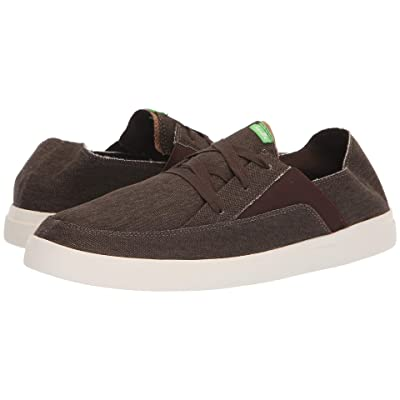Sanuk Pick Pocket Lace-Up Sneaker (Brown) Men