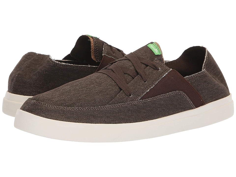 Sanuk Pick Pocket Lace-Up Sneaker (Brown) Men