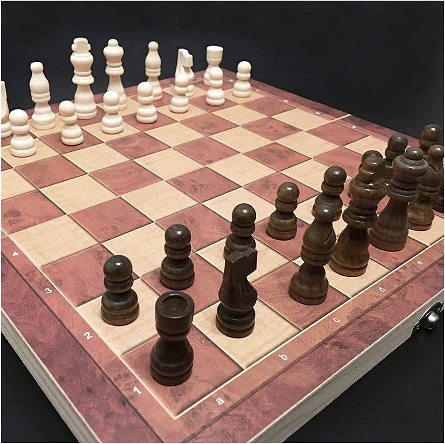MTCWD Popular overseas Wooden Chess Set Magnetic Magn Board Foldable Travel specialty shop