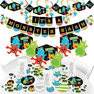 Big Dot of Happiness Monster Bash - Little Monster Baby Shower or Birthday Party Supplies - Banner Decoration Kit - Fundle Bundle