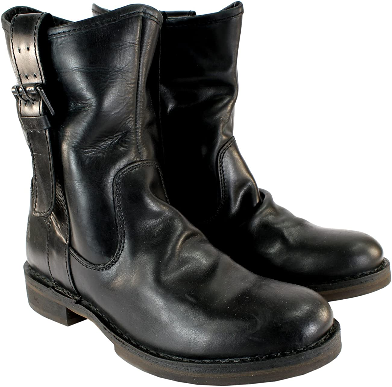 Womens Fly London NOTA Leather Mid Calf Side Buckle Boots 5-10