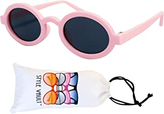 KD31 Baby Infant Toddler Age 0-18 Months Thin Oval Retro Sunglasses