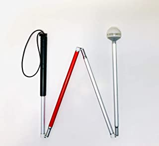 QUALITY Cane with a LED Flashing Rolling Ball by Safety Canes for The Blind LLC, (48 Inches)