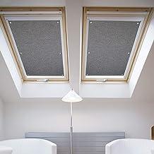 60 * 115cm Gris Estores de techo para tragaluces para ventanas de tejado Velux