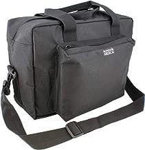 MonMed Black Nylon Medical Equipment Nursing Clinical Bag – Nurse Organizer Bag for Doctor and Home Medical Supplies