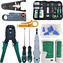 Network Tool Repair Kit, YEESON Ethernet LAN Network Cable Tester Computer Maintenance Coax Crimper Tool for RJ-45/11/12 C...