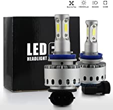 Syneticusa H11/H9/H8 LED Low Beam Headlight Conversion Kit Fog Light Bulbs 100W 10000LM 6000K White