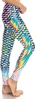 Holographic Mermaid Leggings High Waist Fish Scale Yoga Pants for Women