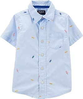 Boys' Toddler Short-Sleeve Woven Top