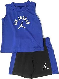 Jordan Air Infant Boys Tank Top and Shorts Set Black/Royal Size 12 Months
