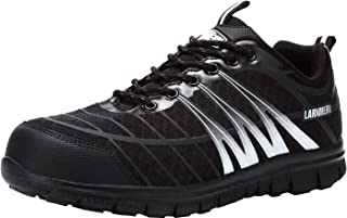 LARNMERN Steel Toe Shoes Men, Work Safety Sneakers,Industrial & Construction Athletic