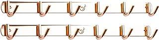 Hook N Holders 銅 12 壁フック 高耐久 壁ハンガー 浴室 コートラック 壁取り付け ガレージ キッチン 整理 収納 コートと帽子フック 壁フックラック
