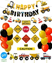 ConstructionBirthdayPartySupplies Dump Truck Party Decorations Kits Set for KidsBirthday Party 51 pack