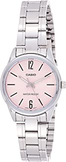 Casio Women's Rose Gold Dial Stainless Steel Analog Watch - LTP-V005D-4BUDF