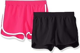 Amazon Essentials Girls' 2-Pack Active Running Short