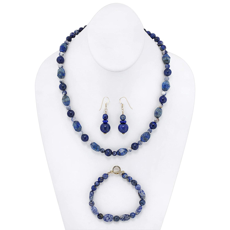 Art Jewelry Gemstone Atlanta Mall Set. Handmade One of Lapis a Kind Sodalite Oklahoma City Mall