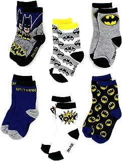Batman Boys 6 pack Crew Socks (Toddler/Little Kid)