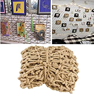 Decor Net, Safety Rope Net Retro Hand-woven Outdoor Child Protection Decoration Net Wear-resistant Anti-aging (Color : BEI...