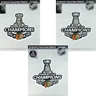 National Emblem Chicago Blackhawks Superfan Champions Patch Package