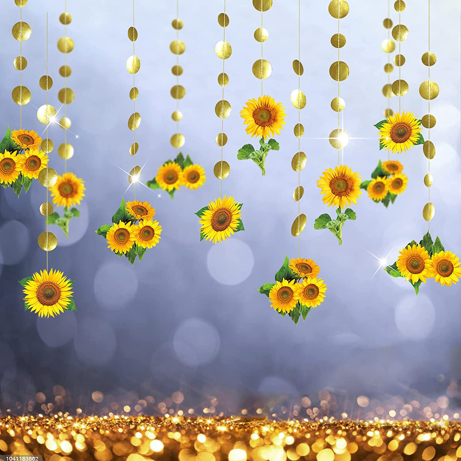 12 Strings Sunflower Garlands for Kids Birthday Party Decorations Sun Flower...