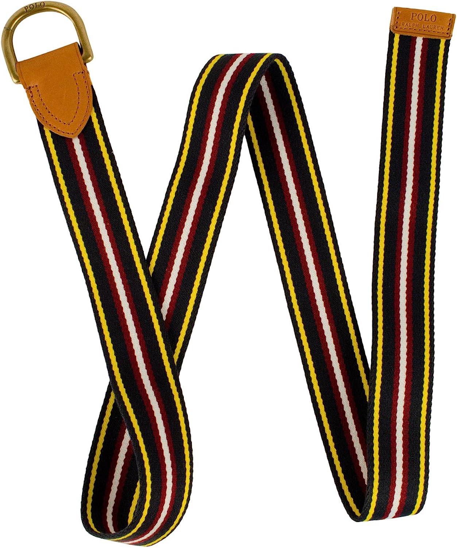 Polo Ralph Lauren Men's Striped Webbed D-Ring Belt