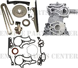 CLOYES HEAVY DUTY TIMING CHAIN+COVER KIT w/STEEL GUIDE for Toyota 22R 22RE 85-95 (Chain Set & Cover)