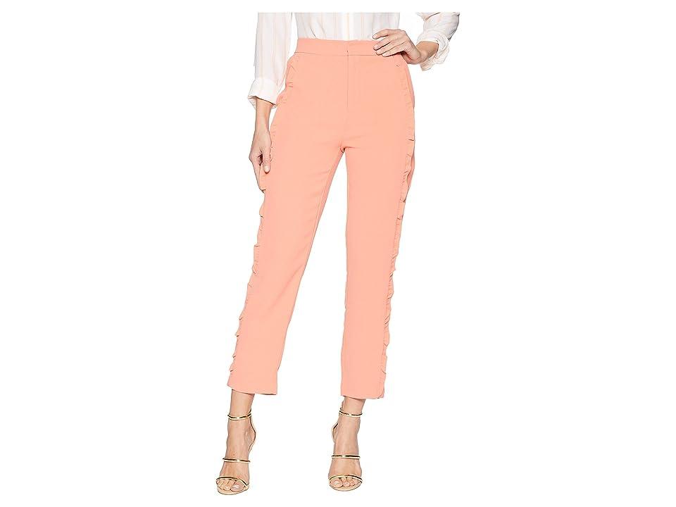ROMEO & JULIET COUTURE Side Ruffle Pants (Apricot/Orange) Women