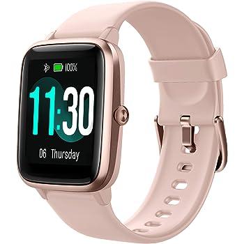 GRDE Smartwatch Damen Fitnessuhr 1.3 Zoll Voll Touchscreen Fitness Tracker IP68 Wasserdicht Smart Watch mit Pulsuhren Schrittzähler Schlafmonitor Stoppuhr Musiksteuerung Sportuhr für iOS Android