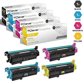CS Compatible Toner Cartridge Replacement for HP M570dn HP Color Laserjet PRO 500 M570 M570DN M570DW M551XH Color Flow M575C CE400A Black CE401A Cyan CE402A Yellow CE403A Magenta 4 Color Set