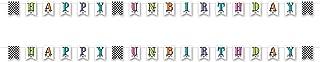 "Beistle , 2 Piece Happy Un-Birthday Pennant Banner, 6"" x 12' Streamer, Multicolor"