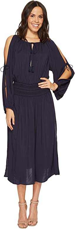 MICHAEL Michael Kors - Twisted Rope Midi Dress Cover-Up w/ Rope Ties & Tassels