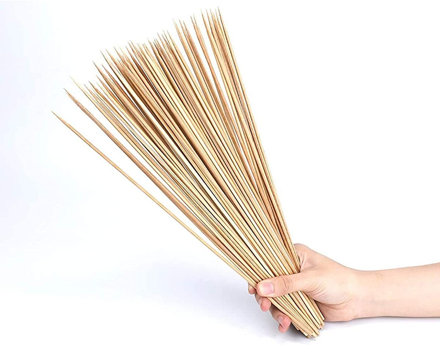 YYAI-HHJU Bamboo Skewers Natural Max 82% OFF BBQ Sticks for online shop Wooden